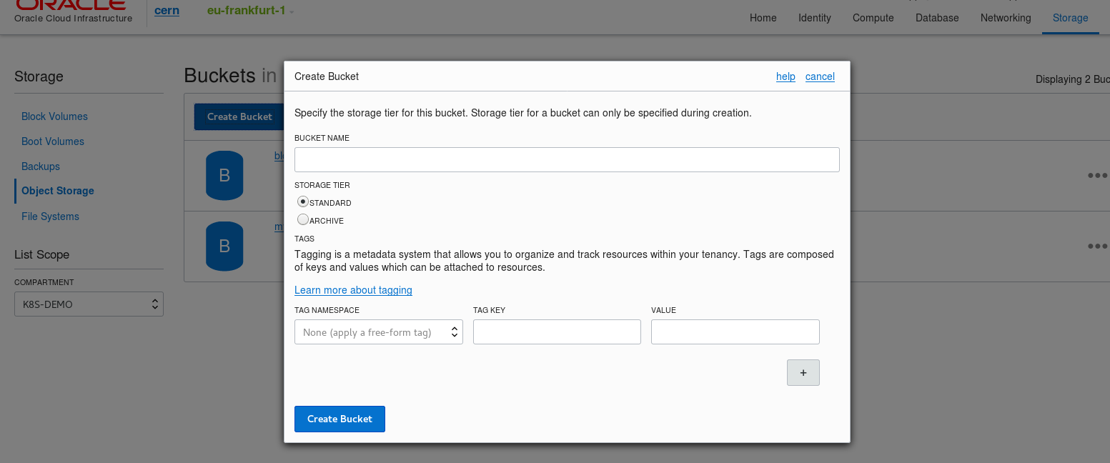 Setup NFS storage on Oracle Cloud Infrastructure using Linux Storage